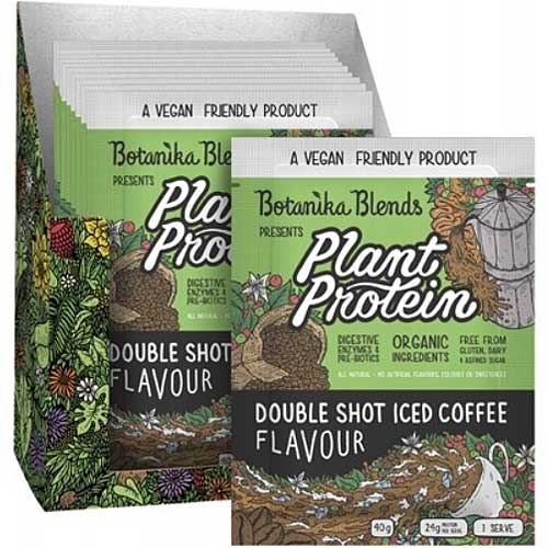 BOTANIKA BLENDS Plant Protein Double Shot Iced Coffee Bulk 12x40g