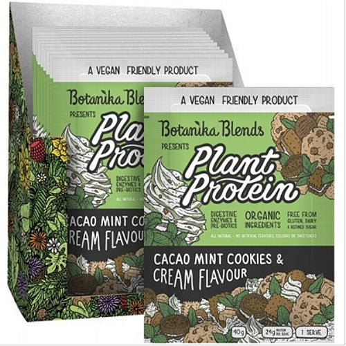 BOTANIKA BLENDS Plant Protein Cacao Mint Cookies & Cream Bulk 12x40g