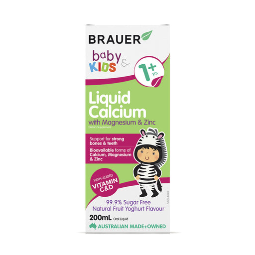 Brauer Baby & Kids 1+ years Liquid Calcium with Magnesium & Zinc