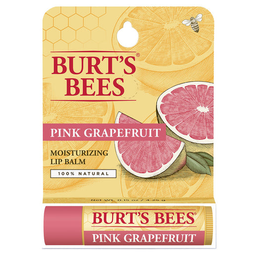 Burts Bees Pink Grapefruit Lip Balm Refreshing Tube