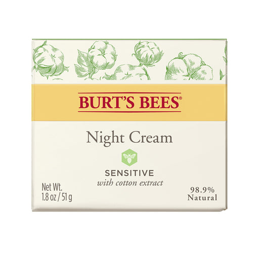 Burts Bees Sensitive Night Cream with Cotton Extract