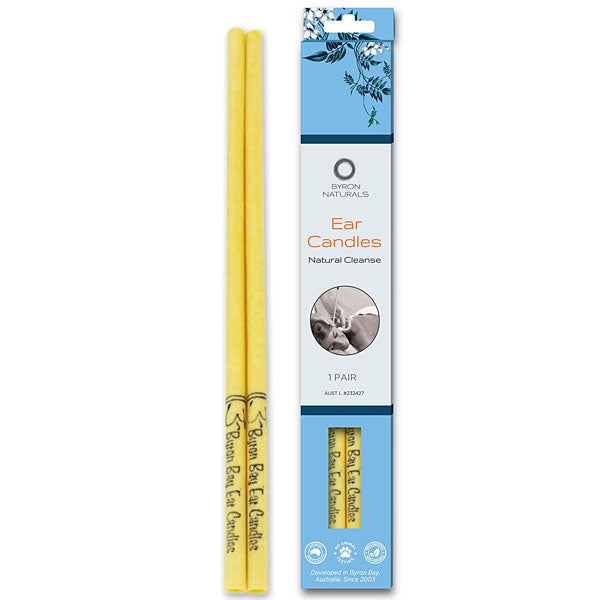 BYRON BAY DETOX Organic Beeswax Ear Candles & Muslin Cotton BULK 12pk