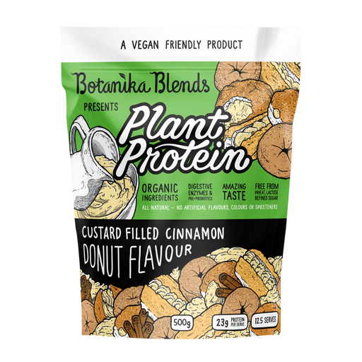 BOTANIKA BLENDS Plant Protein Custard Filled Cinnamon Donut 500g
