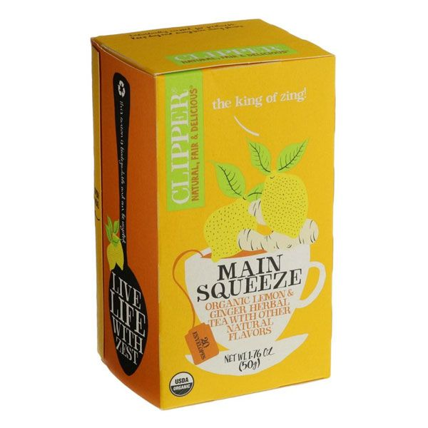 CLIPPER Tea Organic Main Squeeze Lemon & Ginger S&Tag 20 tbags