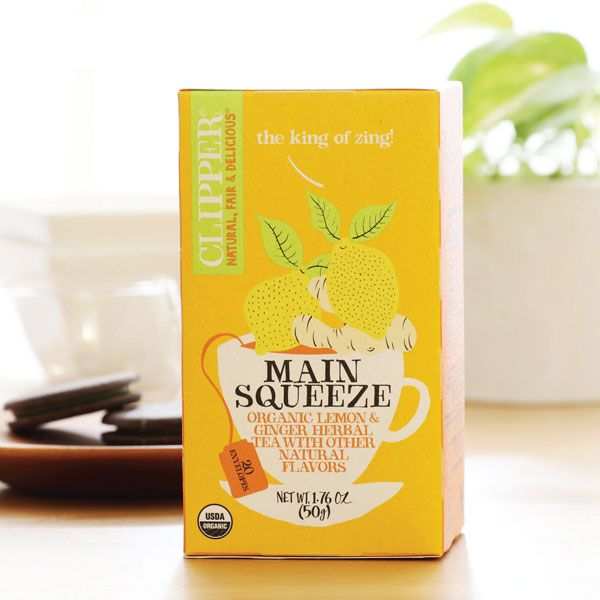 CLIPPER Tea Organic Main Squeeze Lemon & Ginger S&Tag in Australia