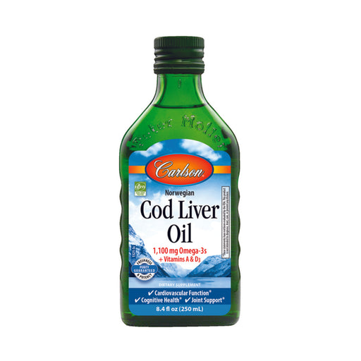 Carlson Fish Oils Unflavoured Norwegian Cod Liver Oil 250ml
