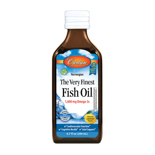 Carlson Fish Oils The Very Finest Norwegian Natural Lemon Flavour Fish Oil 200ml