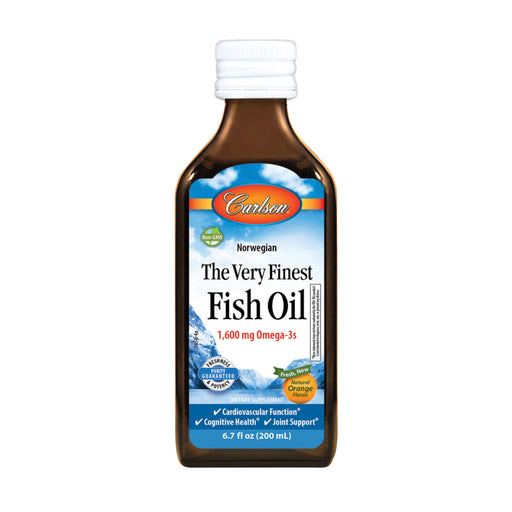 Carlson Fish Oils Norwegian The Very Finest Fish Oil Natural Orange Flavour 200ml