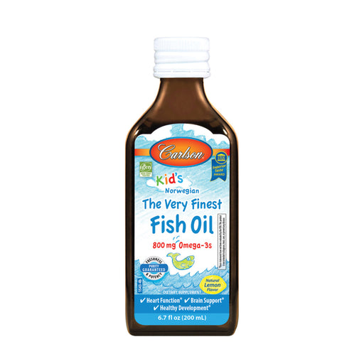Carlson Fish Oils Norwegian Kids The Very Finest Natural Lemon Flavour Fish Oil