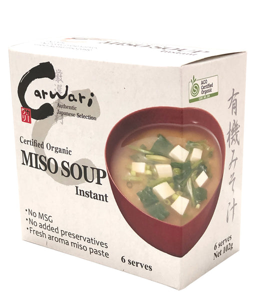 Carwari Organic Instant Miso Soup x 6 Serves