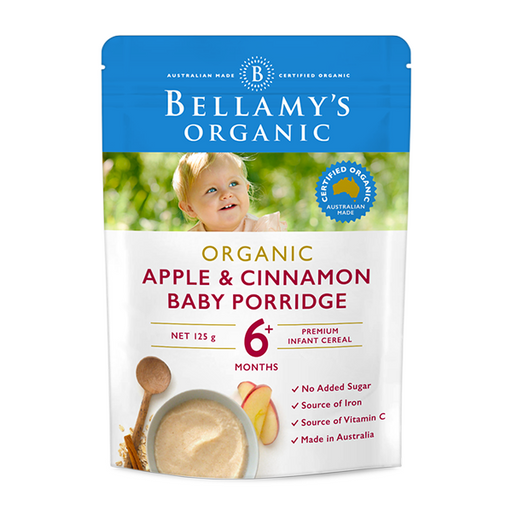 Bellamys Organic Apple and Cinammon Baby Porridge