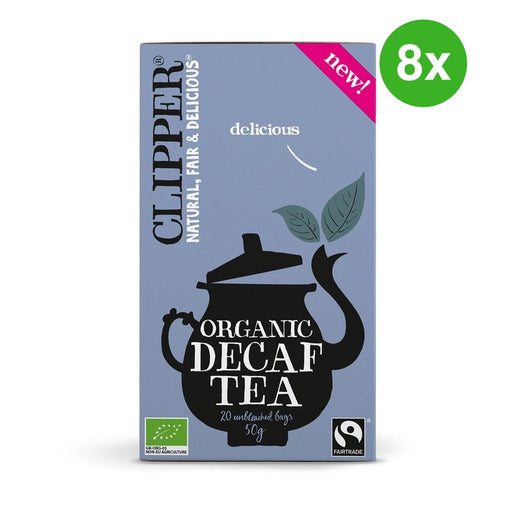 Bulk Deal: 8x CLIPPER Organic Black Tea Decaf Everyday 20 tbags