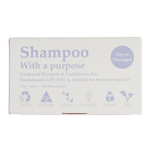 Clover Fields Dry or Damaged Shampoo with a Purpose Bar 100g