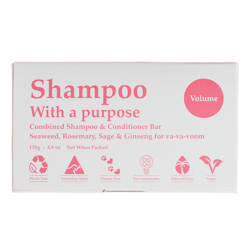 Clover Fields Volume Shampoo with a Purpose Bar 135g