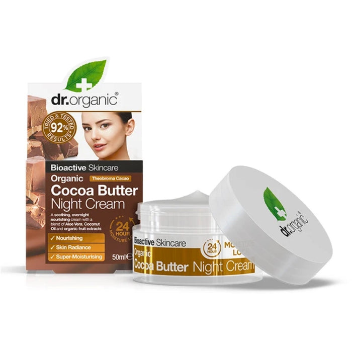 DR ORGANIC Night Cream Organic Cocoa Butter - 50ml