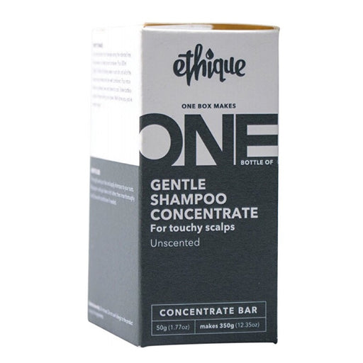 ETHIQUE Gentle Shampoo Concentrate For Touchy Scalps - Unscented (One Box Makes One Bottle of 350g) - 50g