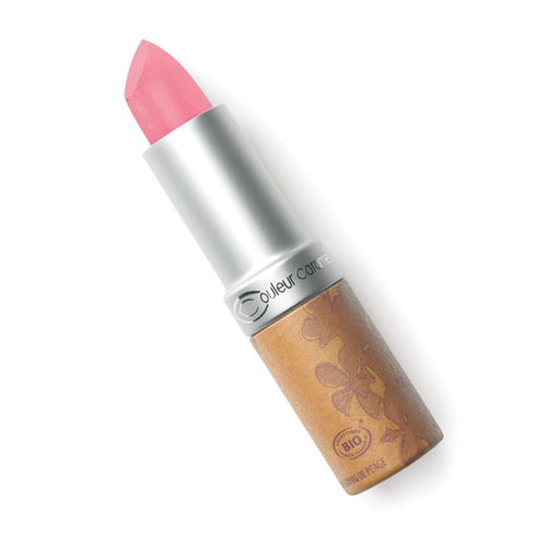 Couleur Caramel Glossy Pearly Medium Pink Lipstick
