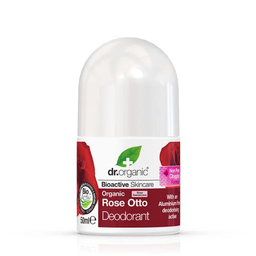 DR ORGANIC Deodorant Roll On Rose Otto 50ml