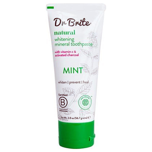 Dr. Brite Natural Mineral Toothpaste with Activated Charcoal - Mint 56.7g