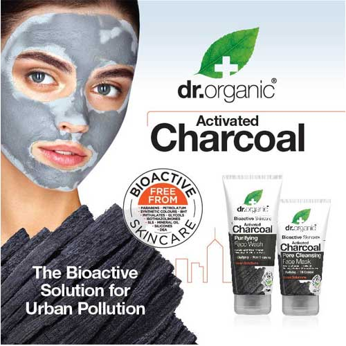 DR ORGANIC Activated Charcoal Face Wash Purifying Bioactive 200ml