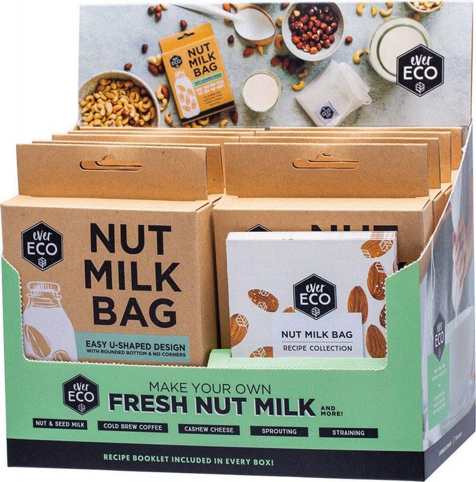 EVER ECO Nut Milk Bag Counter Display With Recipe Booklets - 9
