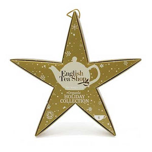 ENGLISH TEA SHOP Organic Tea Star Holiday Collection Gold Gift Pack
