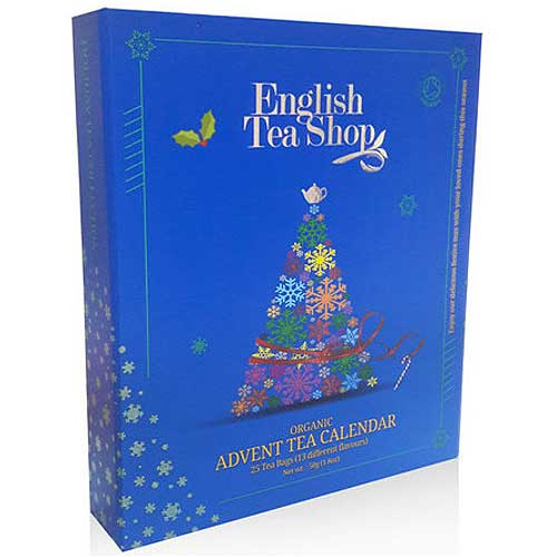 ENGLISH TEA SHOP Organic Book Style Advent Calendar Blue
