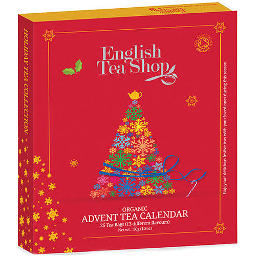 ENGLISH TEA SHOP Organic Tea Advent Calendar Red Book Style Gift