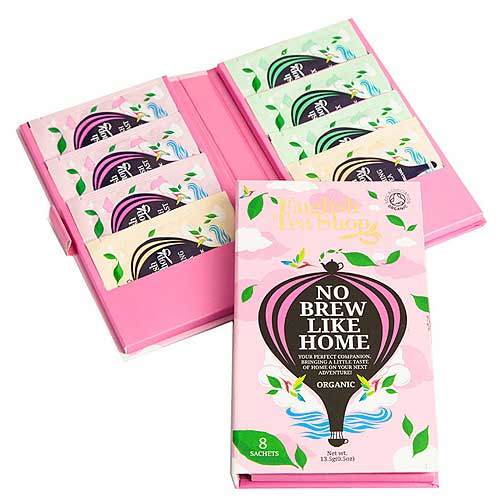 ENGLISH TEA SHOP No Brew Like Home Organic Tea Traveller 8 Pack Pink