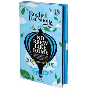ENGLISH TEA SHOP No Brew Like Home Traveller Pack Blue 8 Sachets
