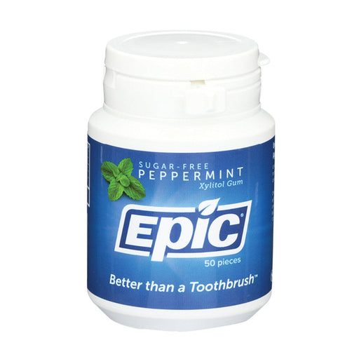 Epic Xylitol Peppermint Dental Gum 50pc Tub