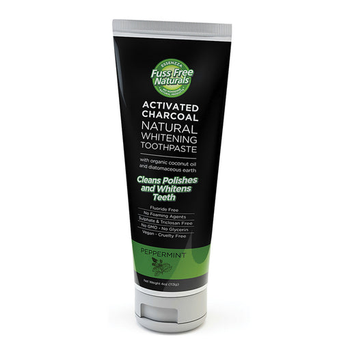 Essenzza Fuss Free Naturals Activated Charcoal Natural Whitening Peppermint Toothpaste