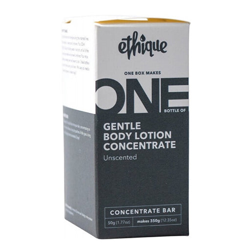 ETHIQUE Gentle Body Lotion Concentrate Unscented (One Box Makes One Bottle of 350g) - 50g