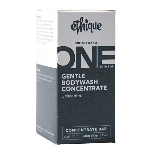 ETHIQUE Gentle Bodywash Concentrate Unscented (One Box Makes One Bottle of 350g) - 50g