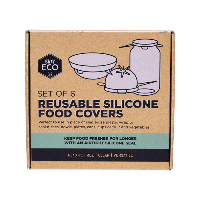 EVER ECO Set Of 6 Reusable Silicone Food Covers