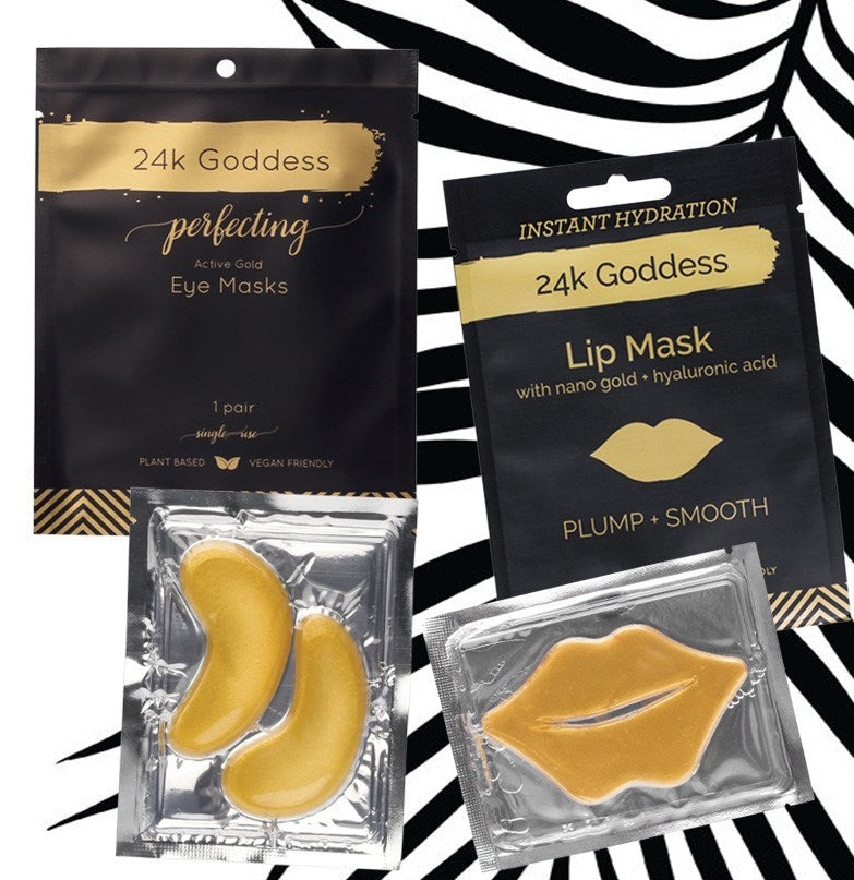 24K GODDESS Eye and Lips Masks Combo