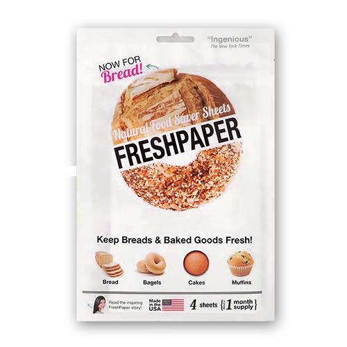 FRESH PAPER 4 Pack Natural Food Saver Sheets Bread & Baked Goods