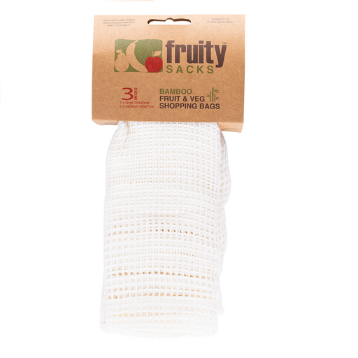 Fruity Sacks 3 Pk Reusable Bamboo Shopping Bags