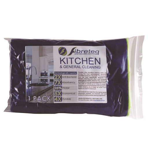 Fibreteq Kitchen and General Cleaning Microfibre Cloth