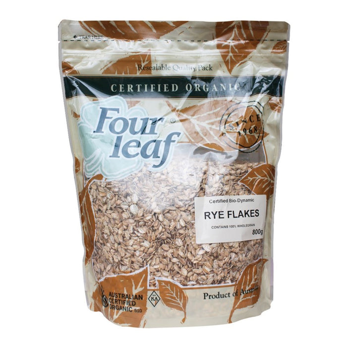 FOUR LEAF Organic Rye Flakes Rolled 800g