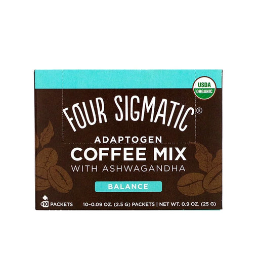 FOUR SIGMATIC Adaptogen Coffee Mix With Tulsi & Ashwagandha 10 Sachets