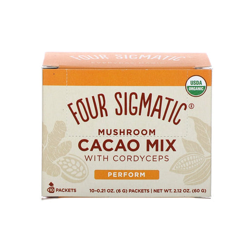 FOUR SIGMATIC Mushroom Hot Cacao Mix with Cordyceps 10 Sachets