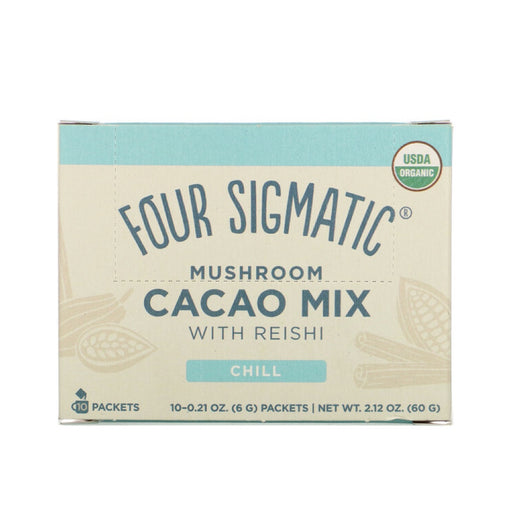 FOUR SIGMATIC Mushroom Hot Cacao Mix Packets With Reishi 10 Sachets