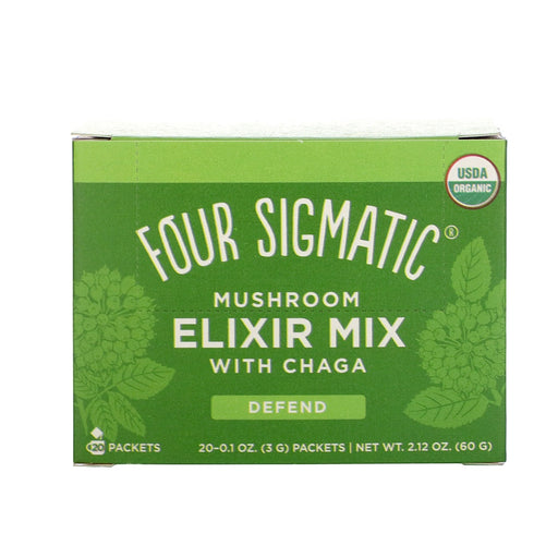 FOUR SIGMATIC Mushroom Elixir Mix Packets With Chaga 20 Sachets
