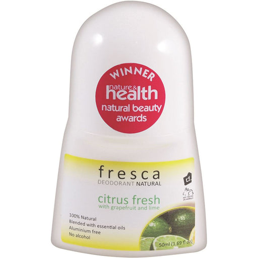 Fresca Natural Citrus Fresh with Grapefruit & Lime Deodorant