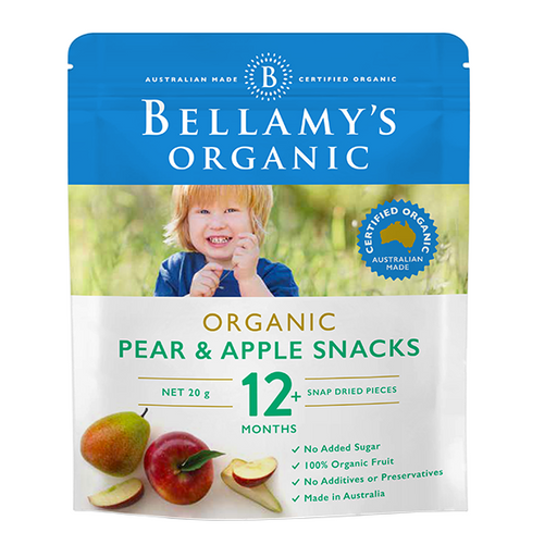 Bellamys Organic Pear and Apple Snacks