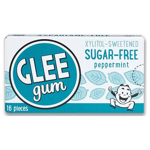 GLEE GUM Sugar free Chewing Gum Peppermint Box x 12 BULK