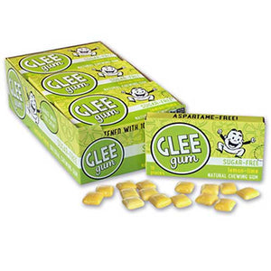 GLEE GUM Sugar free Chewing Gum Lemon Lime Box x 12 BULK