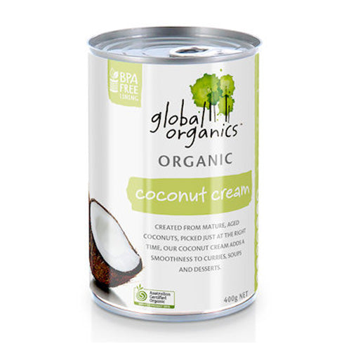 Global Organics Coconut Cream Organic (can) 400g