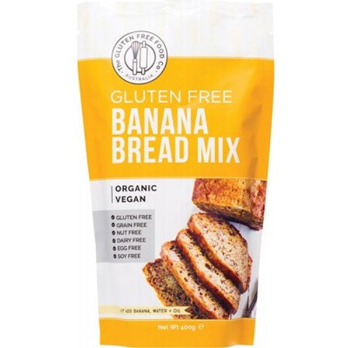 THE GLUTEN FREE FOOD CO Organic Banana Bread Mix 400g